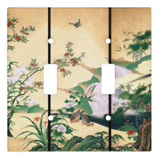 Asian Wisteria Flowers Doves Light Switch Cover