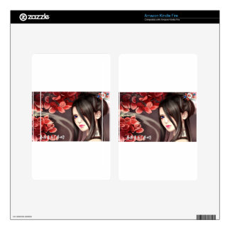 Asian woman decals for kindle fire