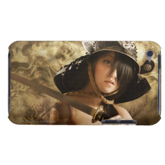 Asian woman dressed as samurai barely there iPod case