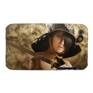 Asian woman dressed as samurai iPhone 3 cover