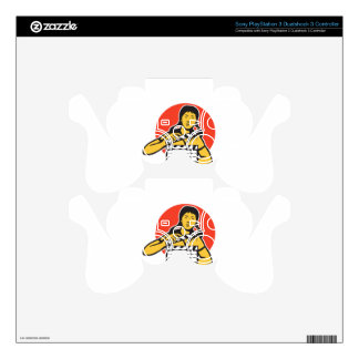 Asian woman girl with movie clapboard PS3 controller decal