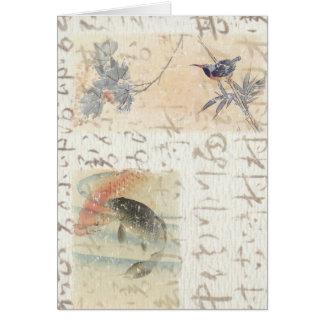 Asian writing card