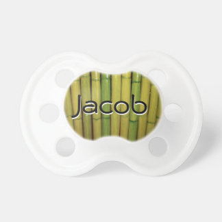 Asian Zen | Bamboo Stalks Personalized Binky Pacifier