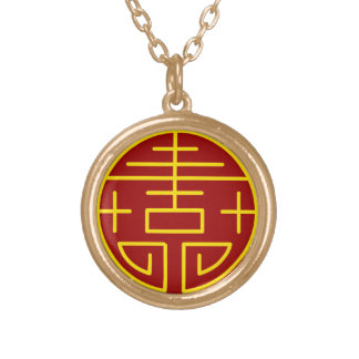Asian zen design necklace