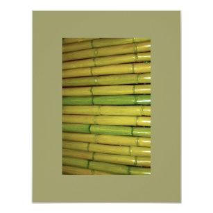 Zen invitations announcements zazzle asian zen green bamboo stalks botanical photo invitation stopboris Image collections