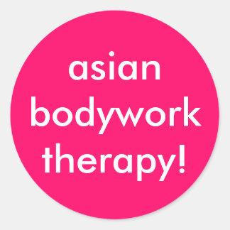 asianbodywork therapy! classic round sticker