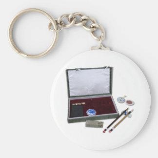 AsianCalligraphySet081510 Basic Round Button Keychain