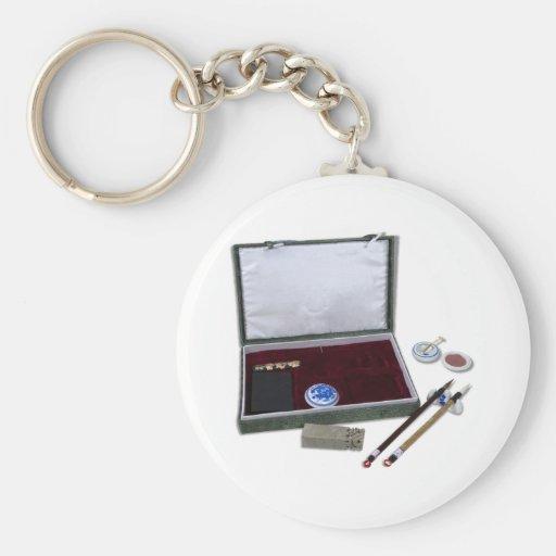 AsianCalligraphySet081510 Keychain