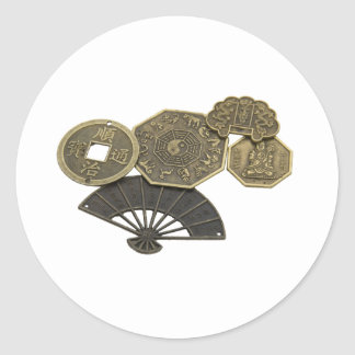 AsianCoins062109 Classic Round Sticker