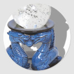 AsianDragonCrystalBall062210Shadow Round Sticker