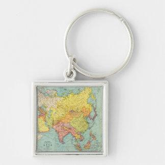 AsiaPanoramic MapAsia 9 Key Chain