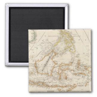 Asiatic Archipelago 2 Inch Square Magnet