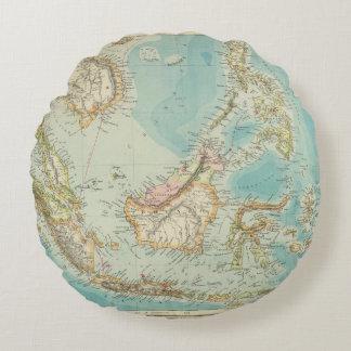 Asiatic Archipelago 2 Round Pillow