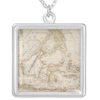 Asiatic Archipelago Square Pendant Necklace