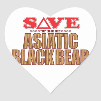 Asiatic Bear Save Heart Sticker