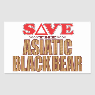 Asiatic Bear Save Rectangular Sticker