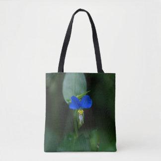 Asiatic Dayflower Blue Wildflower Tote Bag