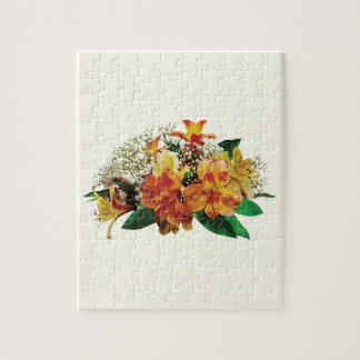 Asiatic Lilies and Stephanotis Jigsaw Puzzles