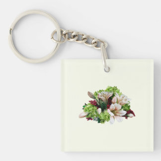 Asiatic Lilies, Hydrangea and Berries Keychain