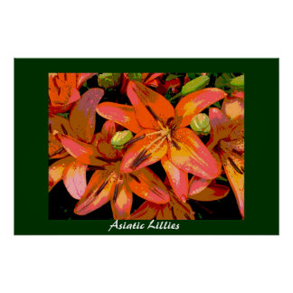 Asiatic Lillies Poster