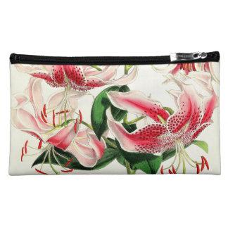 Asiatic Lily Floral Botanical Flowers Bag Makeup Bag