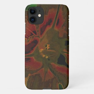 Asiatic lily NEON iPhone 11 Case
