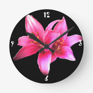 Asiatic Lily Wall Clock