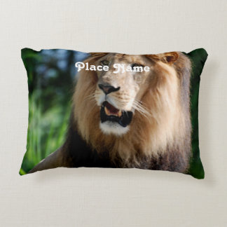 Asiatic Lion of Iran Accent Pillow