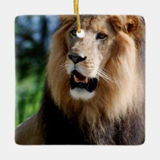 Asiatic Lion of Iran Ceramic Ornament