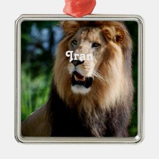 Asiatic Lion of Iran Metal Ornament
