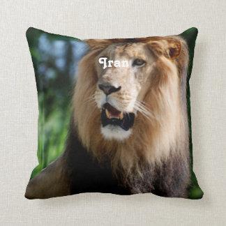 Asiatic Lion of Iran Throw Pillow