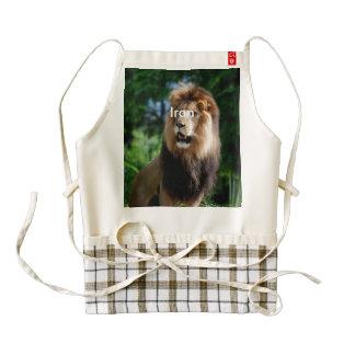 Asiatic Lion of Iran Zazzle HEART Apron