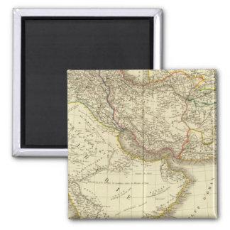 Asiatic Turkey, Persia, Arabia, Kabul 2 Inch Square Magnet