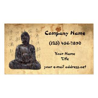 Asiático antiguo tarjeta personal