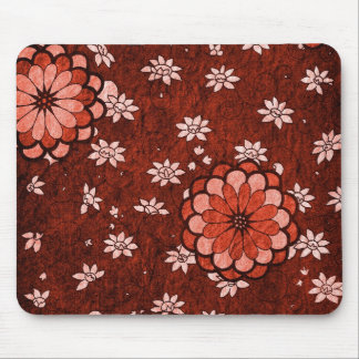 Asiático - cojín de ratón floral tapete de ratones