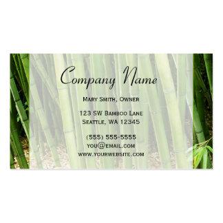Asiático de bambú verde tarjetas de visita