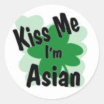 asiático etiquetas redondas