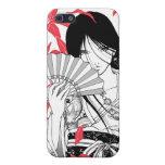 Asiático japonés del animado del geisha del kimono iPhone 5 carcasa