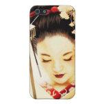 Asiático japonés del geisha 8 del kimono iPhone 5 protector