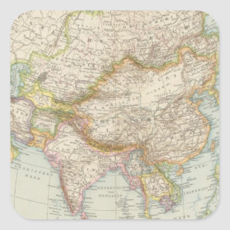 Asien - Map of Asia Square Sticker