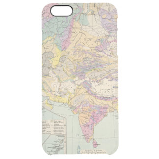 Asien u Europa - Atlas Map of Asia and Europe Clear iPhone 6 Plus Case