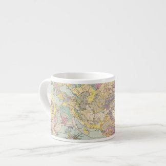 Asien u Europa - Atlas Map of Asia and Europe Espresso Cup