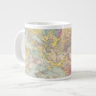 Asien u Europa - Atlas Map of Asia and Europe Giant Coffee Mug