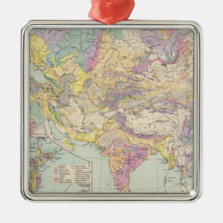 Asien u Europa - Atlas Map of Asia and Europe Metal Ornament
