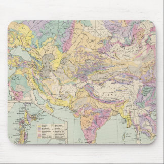 Asien u Europa - Atlas Map of Asia and Europe Mouse Pad