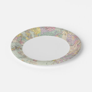 Asien u Europa - Atlas Map of Asia and Europe Paper Plate