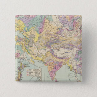 Asien u Europa - Atlas Map of Asia and Europe Pinback Button
