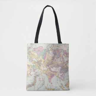 Asien u Europa - Atlas Map of Asia and Europe Tote Bag