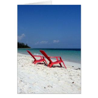 asiento Bahamas de la playa Tarjeta De Felicitación