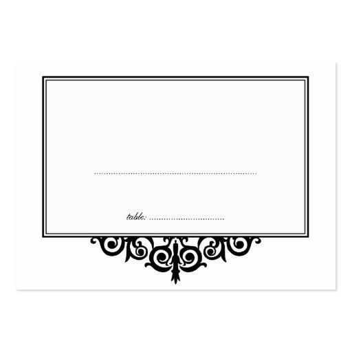 Asiento blanco negro de la huésped del tarjetas de visita grandes